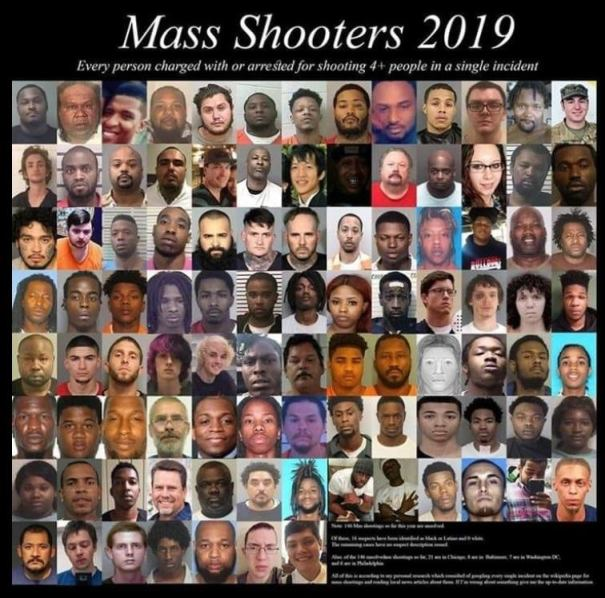 mass shooters 2019 as of august